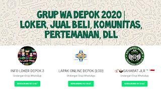 Grup whatsapp depok