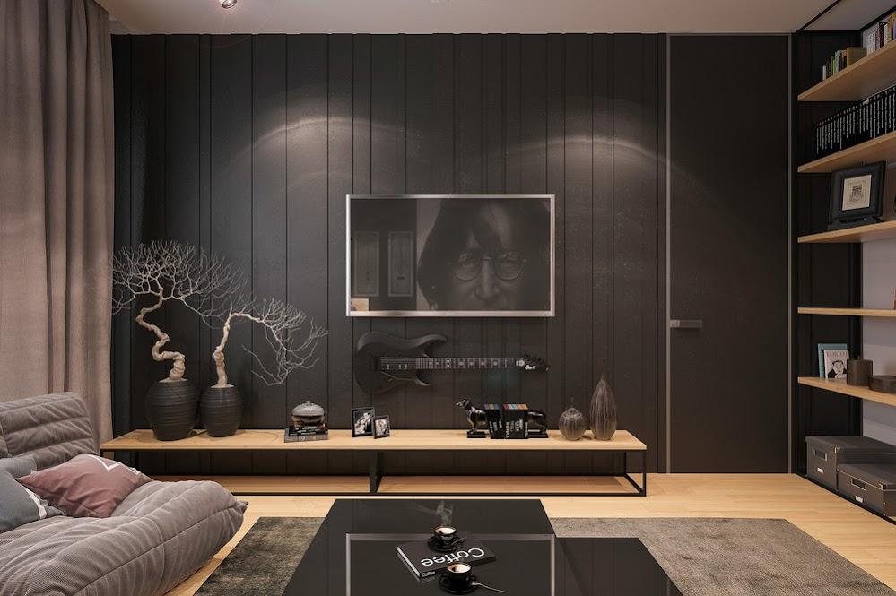 black-wall-paneling