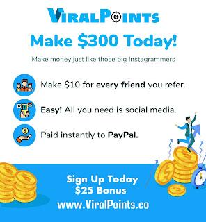 موقع viral points  للربح من اكمال المهام واحالة الاصدقاء