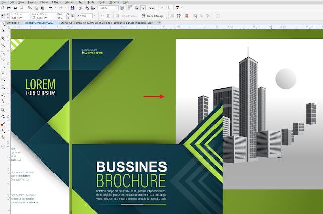Free Brosur CDR Download Template Brosur Coreldraw Hijau 2 Lipat