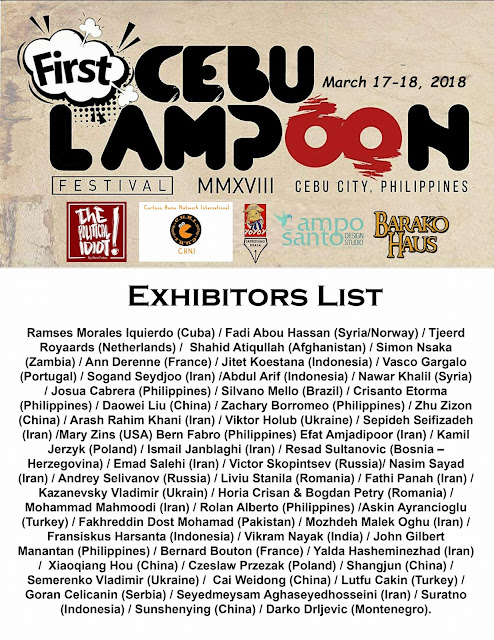 Official list of participants for the First Cebu Lampoon Festival 2018