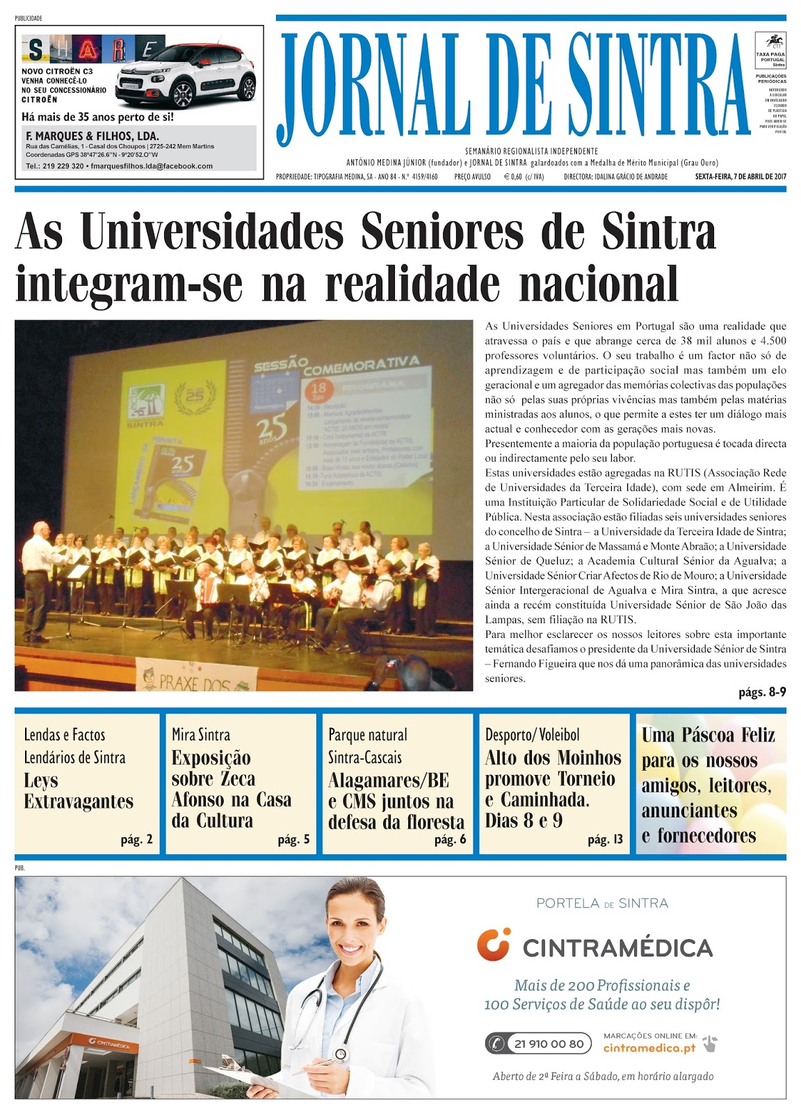 Capa da edição de 07-04-2017