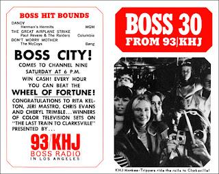 KHJ Boss 30 No. 63 - KHJ Monkee Trippers