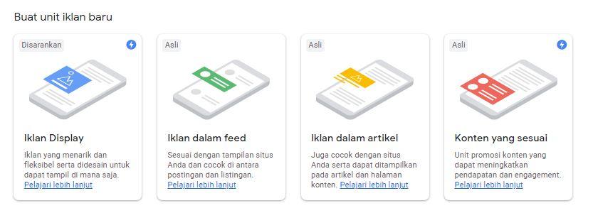 Unit Iklan google adsense