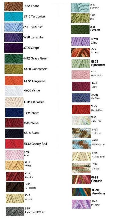 √ I Love This Cotton Yarn Color Chart | I Love This Yarn