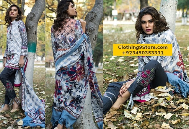 LSM Embroidered Shawl Collection 2018 Catalog