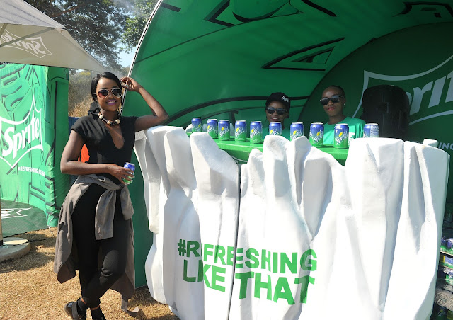 Omuhle at the Sprite stand #thelifesway #photoyatra
