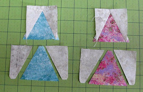 Making the triangle pieces