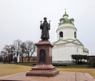 Прилуки. Пам'ятник святителю Іоасафу Білгородському