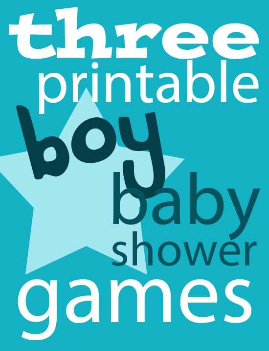 Three Printable Boy Baby Shower Games