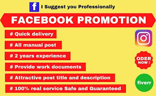 I will promote any business through facebook marketing