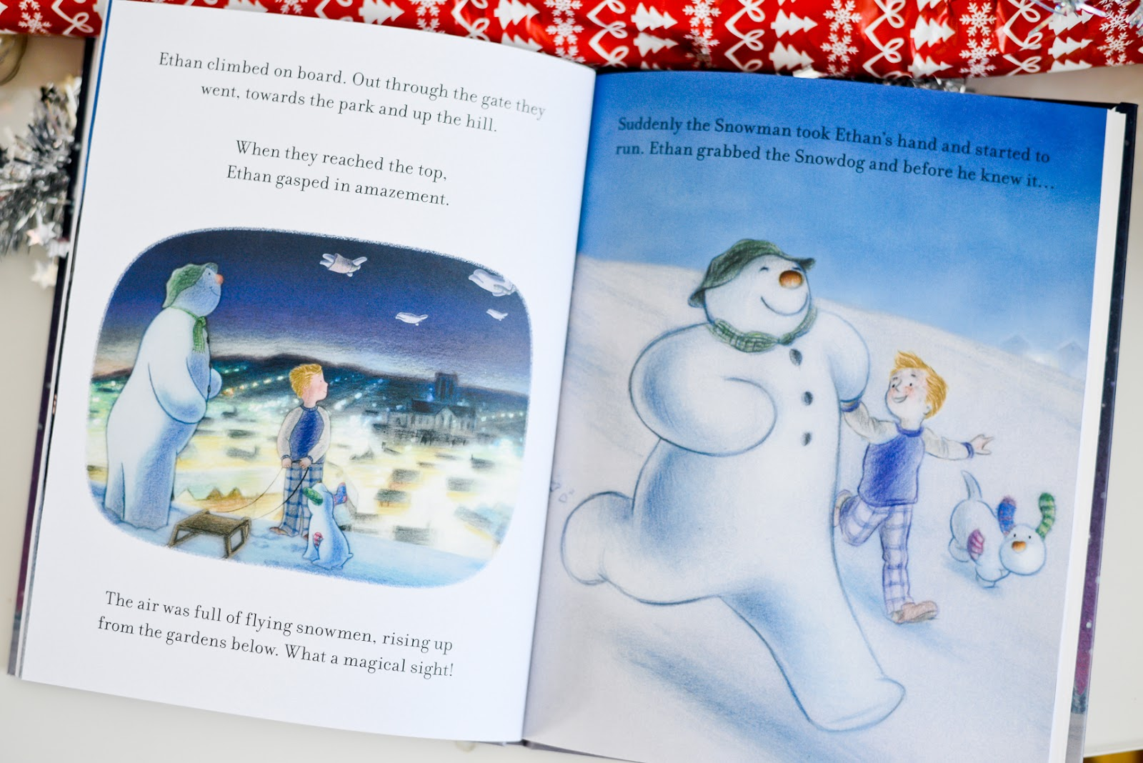 the snowman and the snowdon personalised book