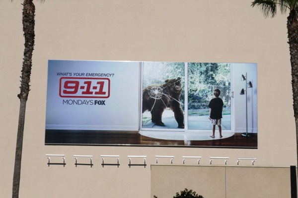 9-1-1 season 2 bear billboard