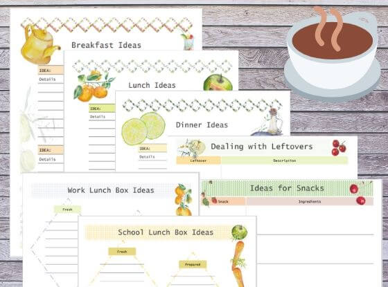 family meal planner and meal planning templates