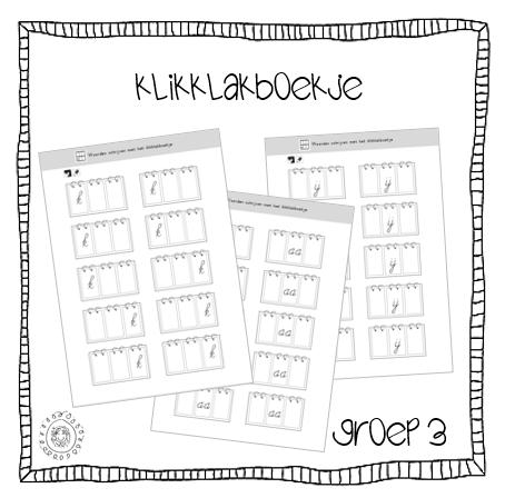 Beste Kleuterjuf in een kleuterklas: GROEP 3 | Werkbladen klikklakboekje YJ-15