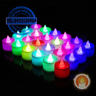 Hộp đèn led tealight đổi màu