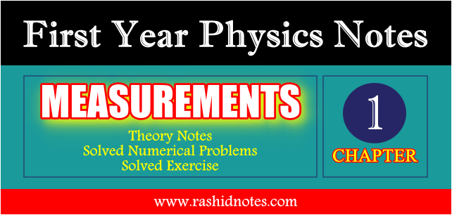 F.Sc. Physics 1st Year Notes Chapter No. 1 (Measurements) PDF Download