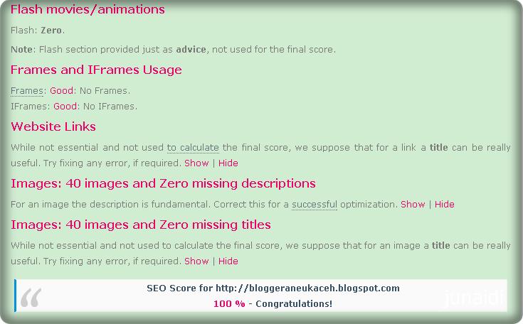 cara memperbaiki agar blog seo chkme 100%