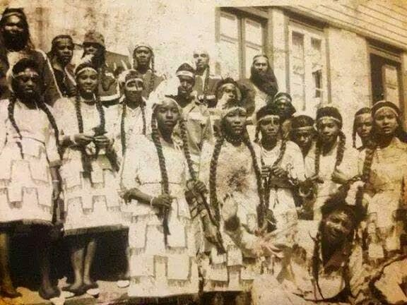 black native americans old photo