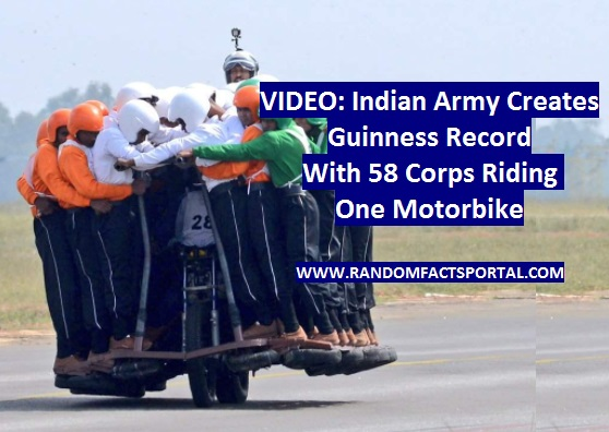 VIDEO: Indian Army Creates Guinness Record With 58 Corps Riding One Motorbike