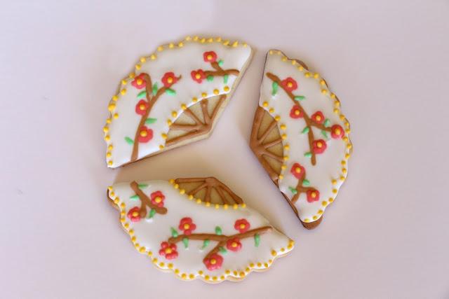 galletas abanico flor cerezo