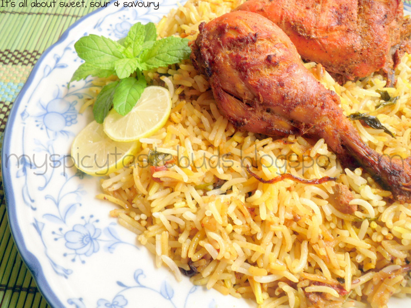 My Spicy Taste Buds: Chicken Tikka Biryani