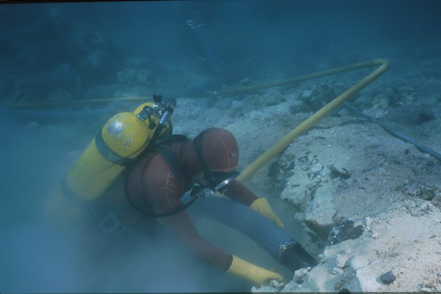 Exploration at the excavation site of Kanduli shoal shipwreck