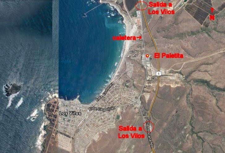El Paletita Los Vilos mapa general