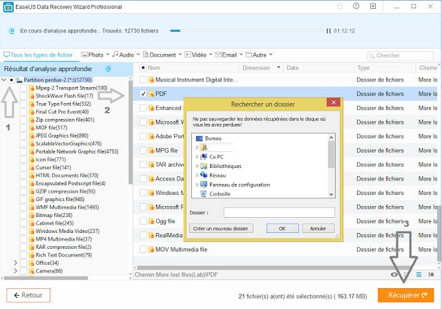 logiciel de récupération de fichier