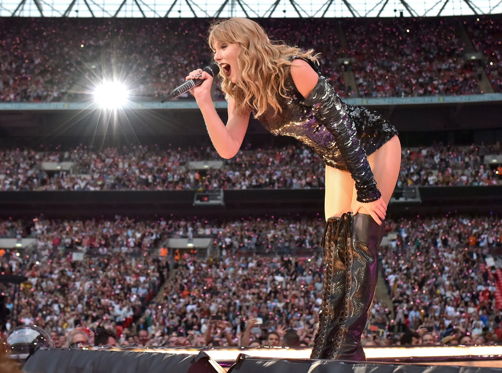 Taylor Swift at Wembley Stadium in June of 2018. Photo credit: Gareth Cattermole/TAS18/Getty Images