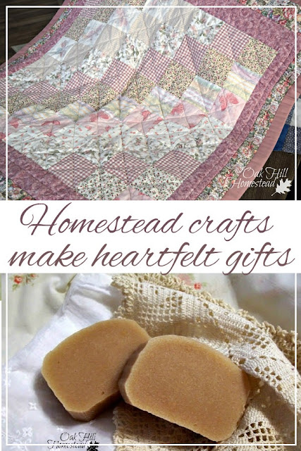 Homestead hobbies and skills make special homemade gifts for the holidays or any occasion.