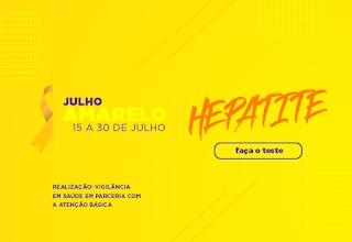 Campanha Julho Amarelo: conscientização e prevenção das hepatites virais