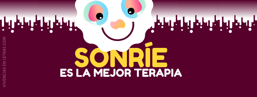 portada facebook con emoji y frase