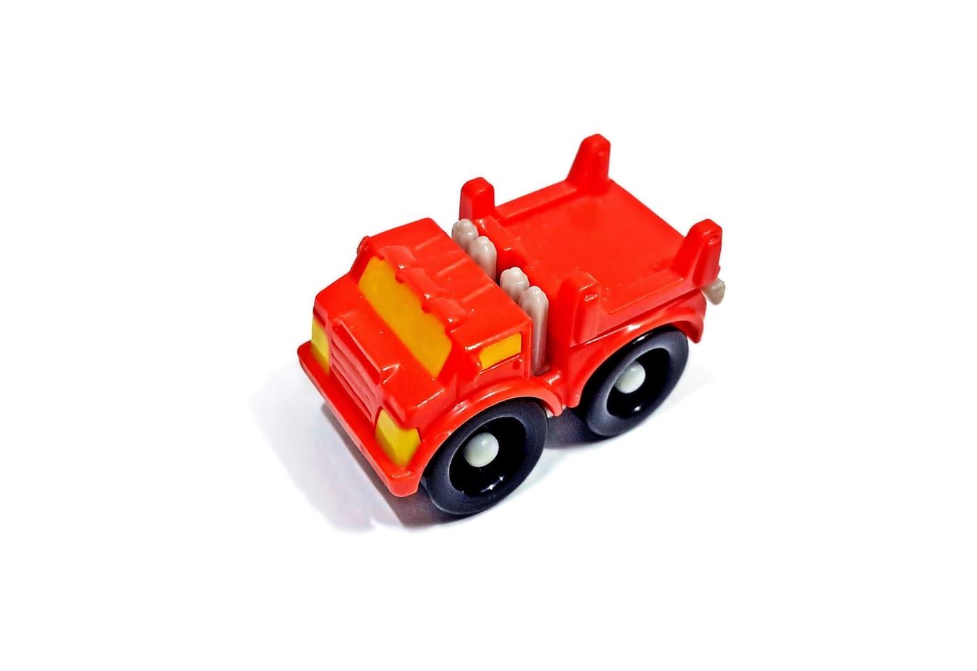 Red Toy Truck, Fun, Miniature, Macro