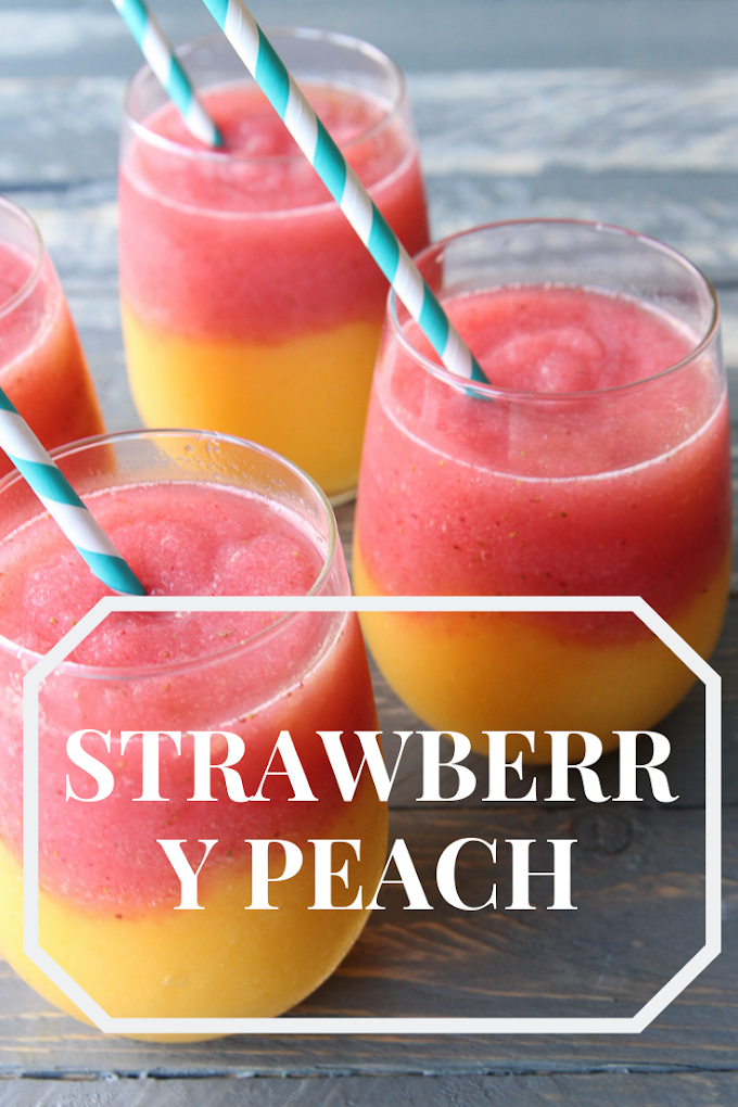 Strawberry Peach White Wine Slushie party