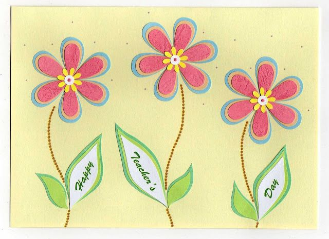 Ideas for handmade cards for teachers day