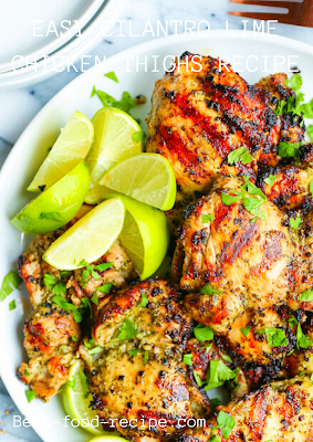 EASY CILANTRO LIME CHICKEN THIGHS RECIPE