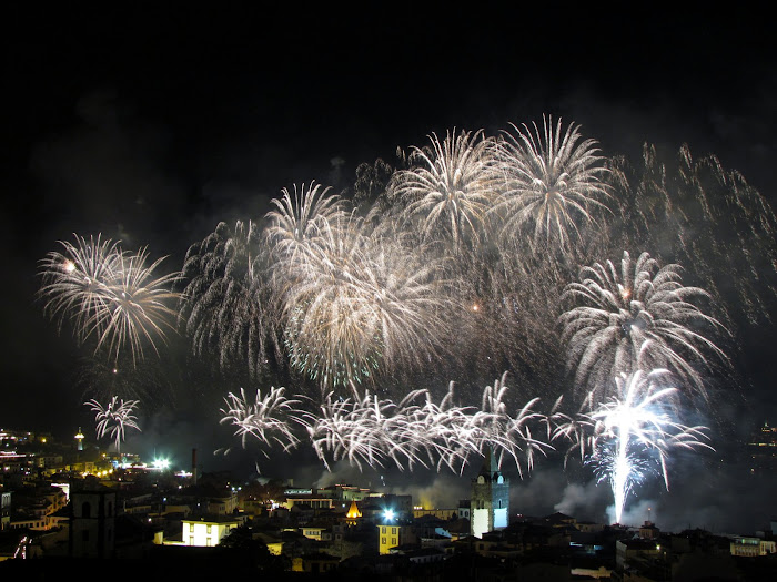 Funchal firework in 2012 new year