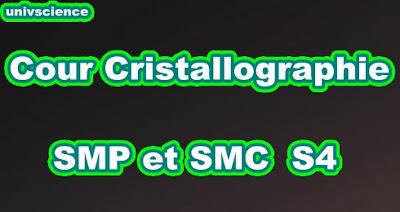 Cours Cristallographie et Cristallochimie SMP-SMC S4 PDF