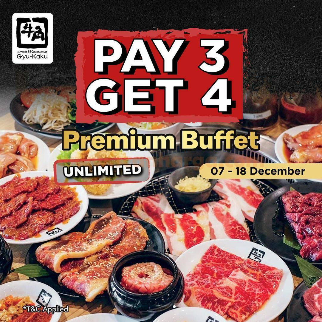 Promo Gyukaku Buy 3 Get 1 Free Premium Buffet
