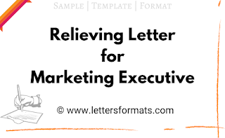 relieving letter format for marketing manager