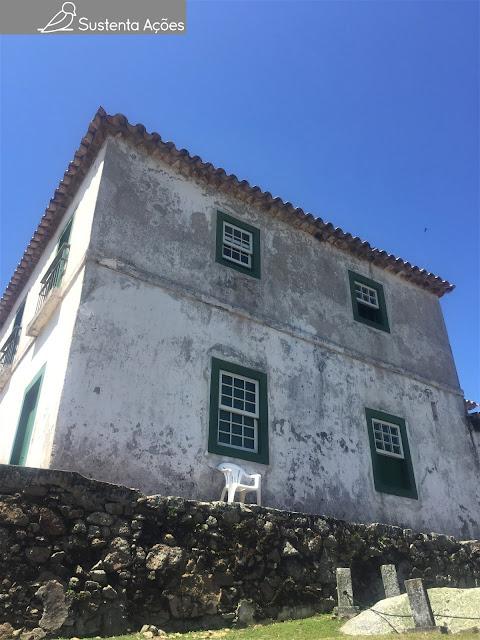 Casa do comandante Brigadeiro Silva Paes na Ilha de Anhatomirim.