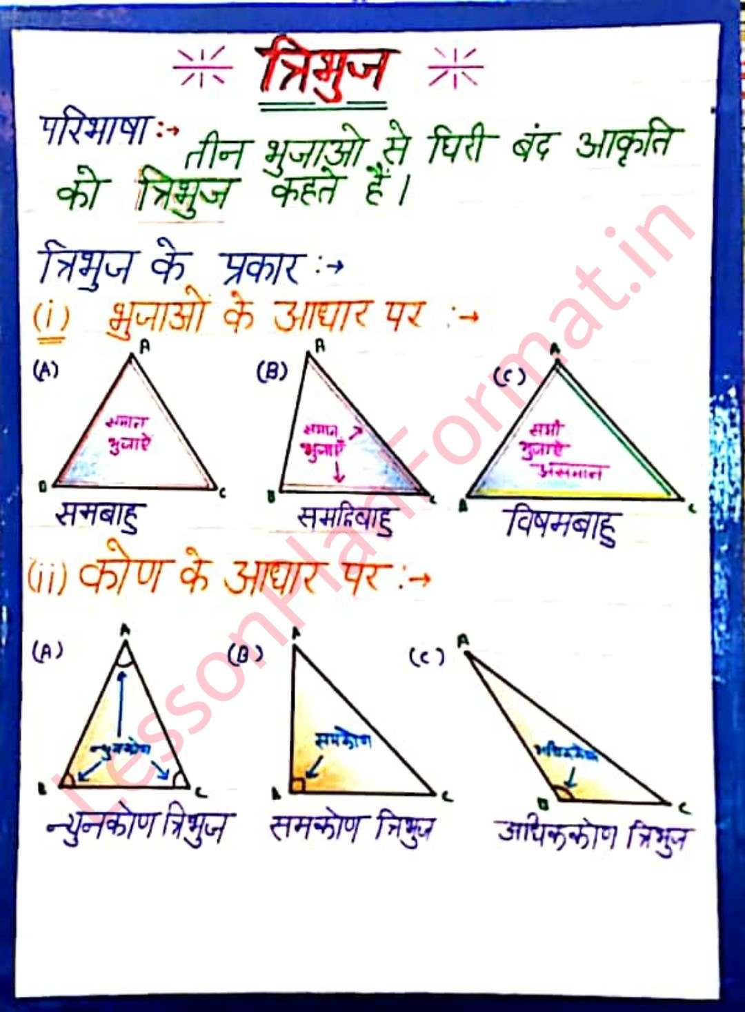 Maths TLM Chart-Model Triangle