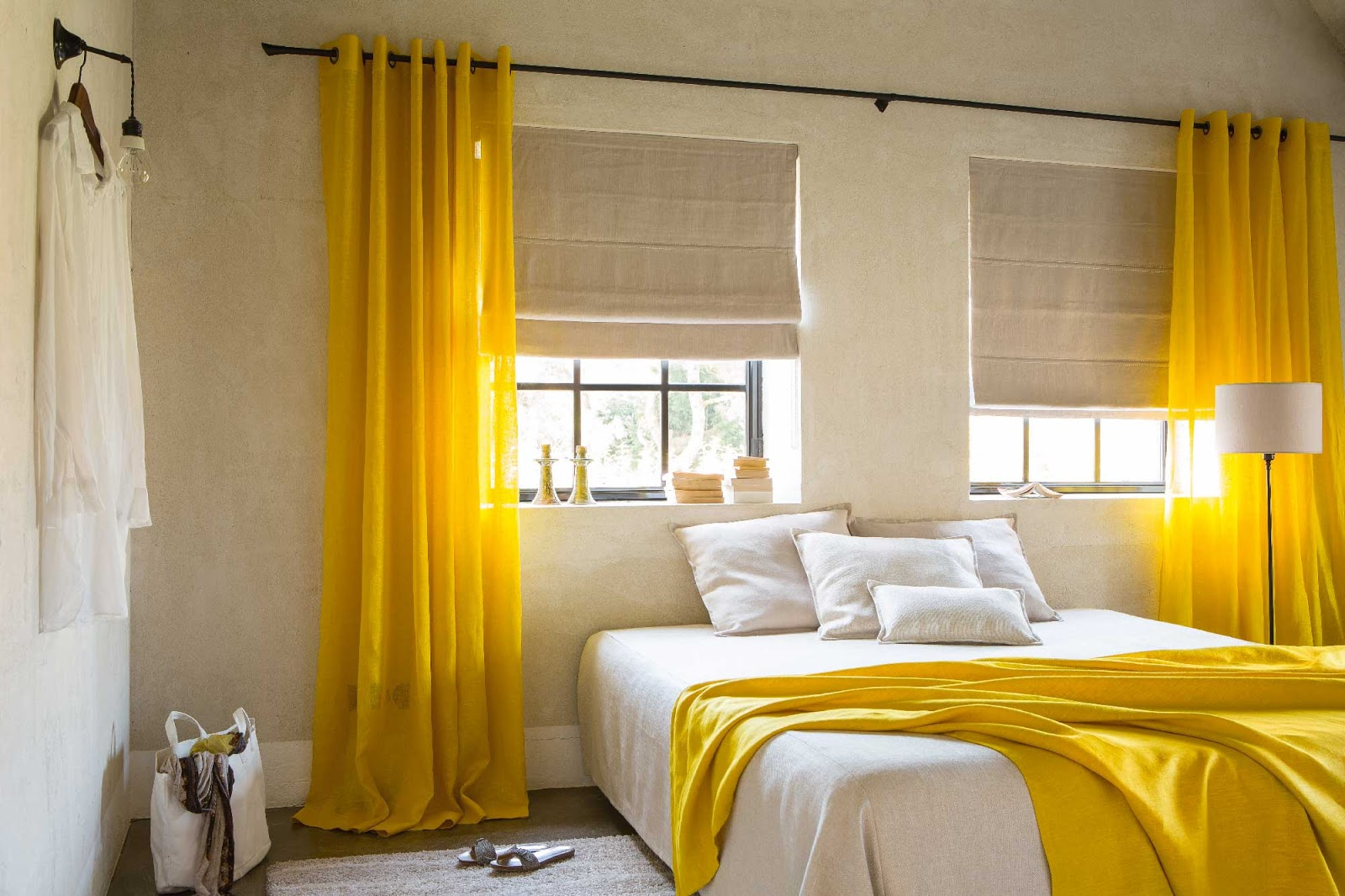 home decor design: impressive grey and yellow bedroom ideas