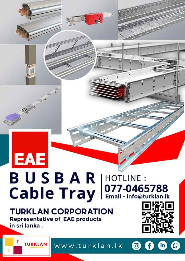 EAE Bus Bars, Cable Trey & Trunking now available in Sri Lanka