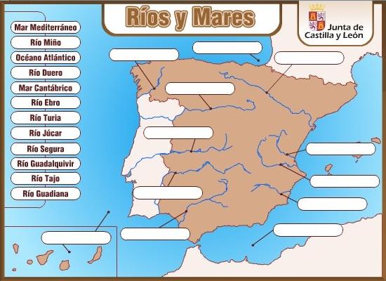 """""""Ríos y Mares de España"""" (Juego de Ciencias Sociales de Primaria)"""