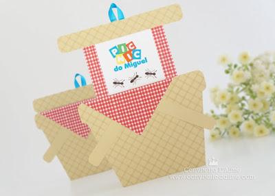 convite picnic piquenique cestinha