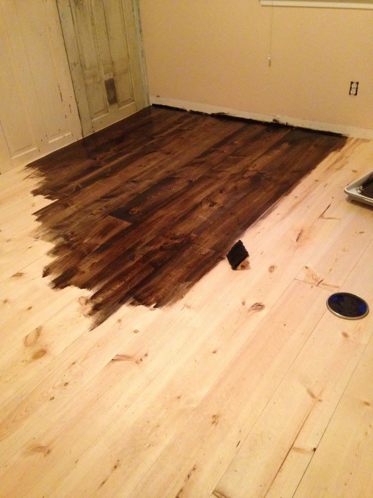 Grand Design: DIY pine plank wood flooring