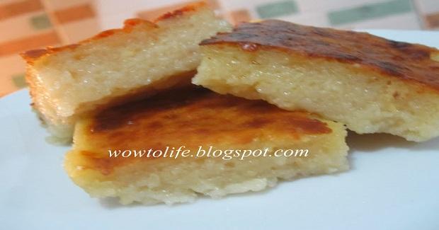 Bibingkang Kamoteng Kahoy (Cassava Bibingka) Recipe
