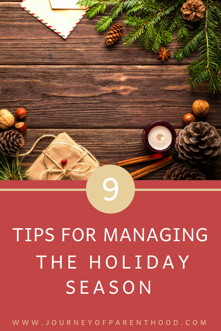 9 tips for managing the holiday season